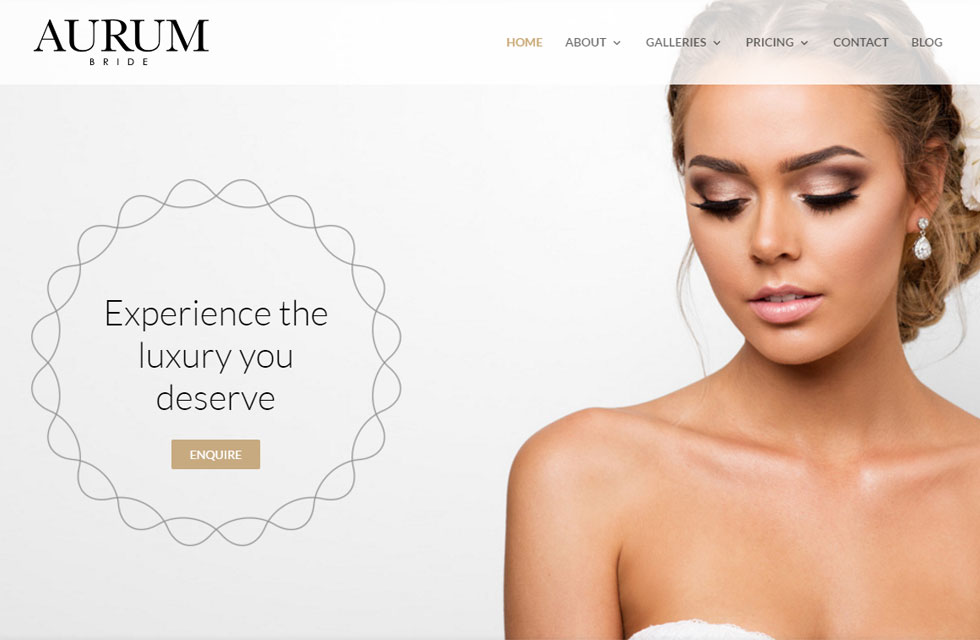 Aurum Bride website image