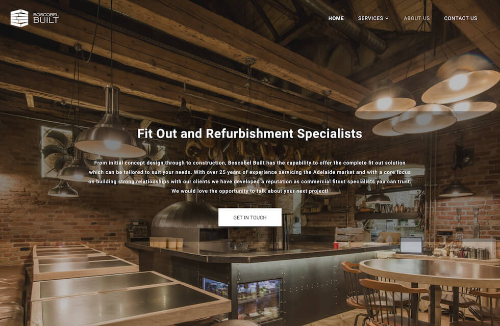 Web Design for Boscobel Built